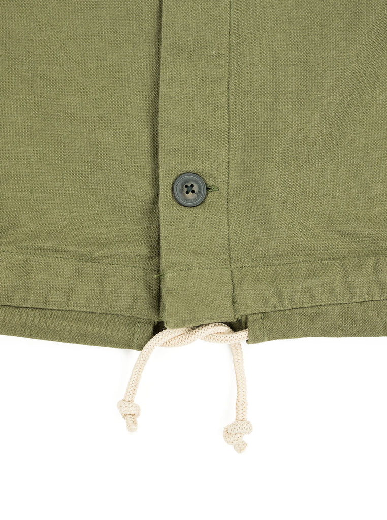 Corridor Olive Dobby Service Shirt The Northern Fells Clothing Company Drawstring