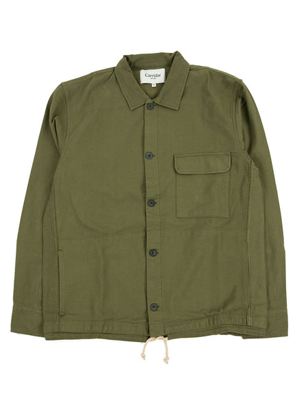 Corridor Olive Dobby Service Shirt The Northern Fells Clothing Company Full