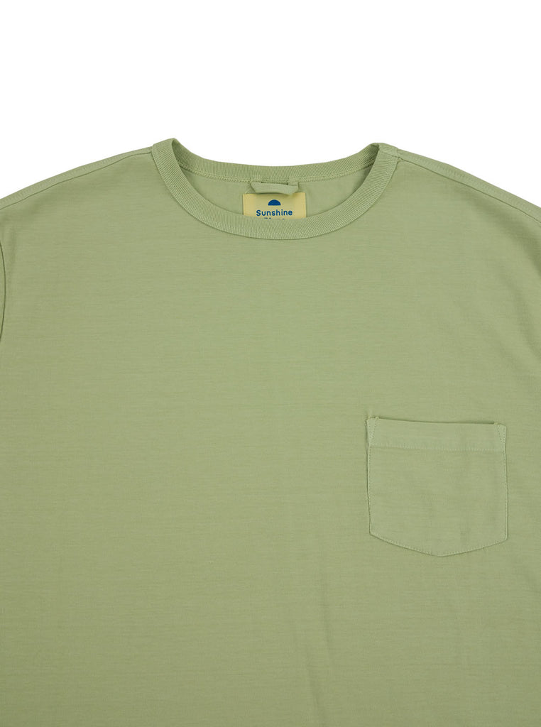 Corridor Olive Tee Lint The Northern Fells Clothing Company Neck