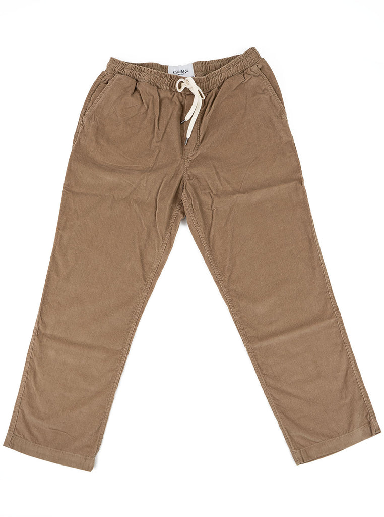 Corridor Pincord Taupe Drawstring Trousers The Northern Fells Clothing Company Full