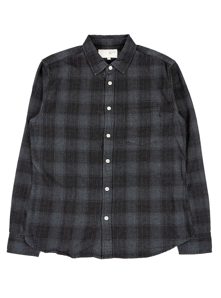 Corridor Recycled Shirt Grey Plaid The Northern Fells Clothing Company Full