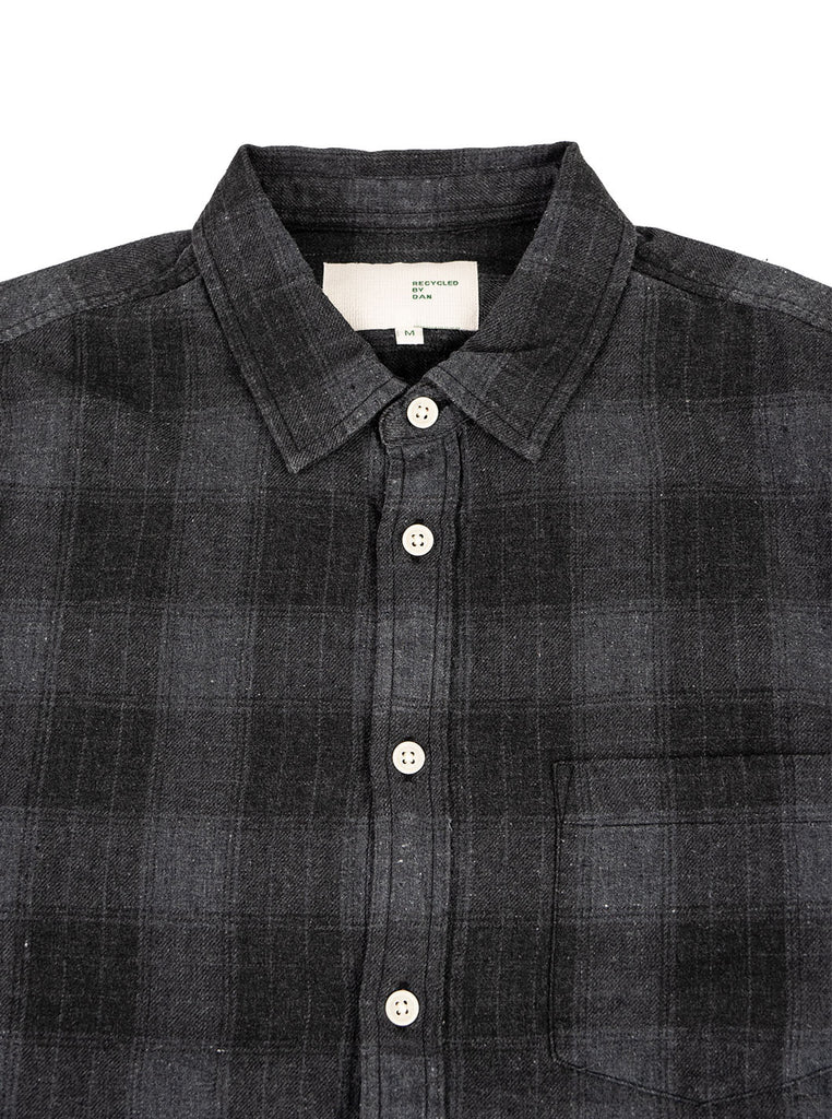 Corridor Recycled Shirt Grey Plaid The Northern Fells Clothing Company Neck