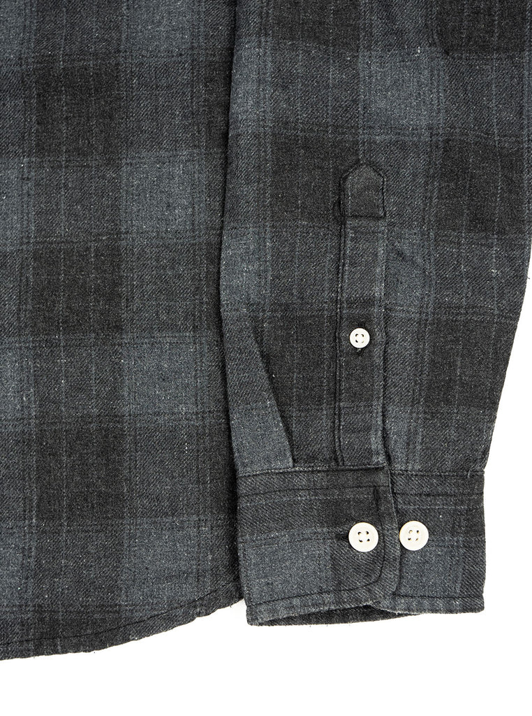 Corridor Recycled Shirt Grey Plaid The Northern Fells Clothing Company Sleeve