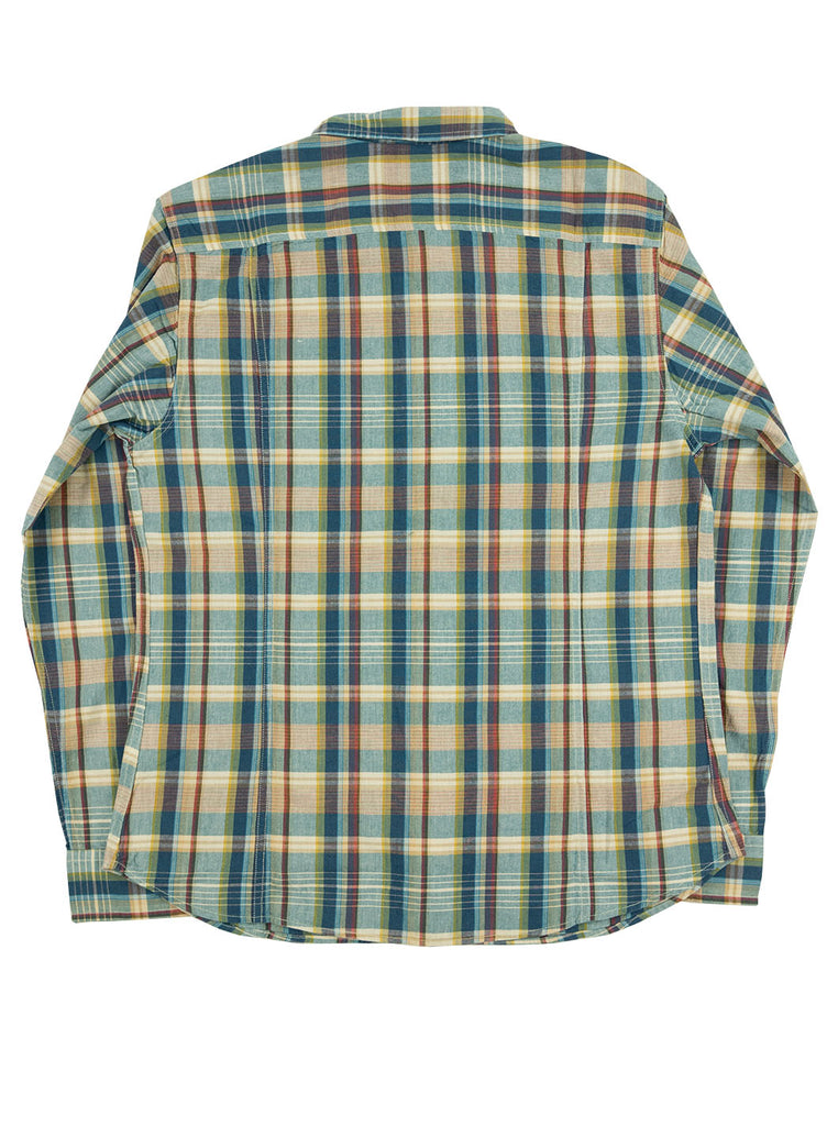 Corridor Teal Madras Shirt The Northern Fells Clothing Company Back
