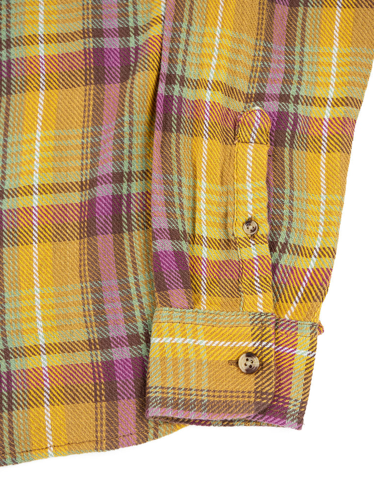 Corridor Vibrant Flannel Pink The Northern Fells Clothing Company Sleeve
