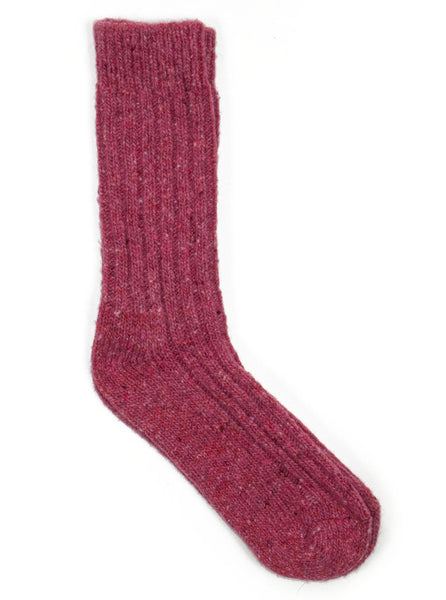 Donegal Wool Socks - Pink - Northern Fells a50229fe5627