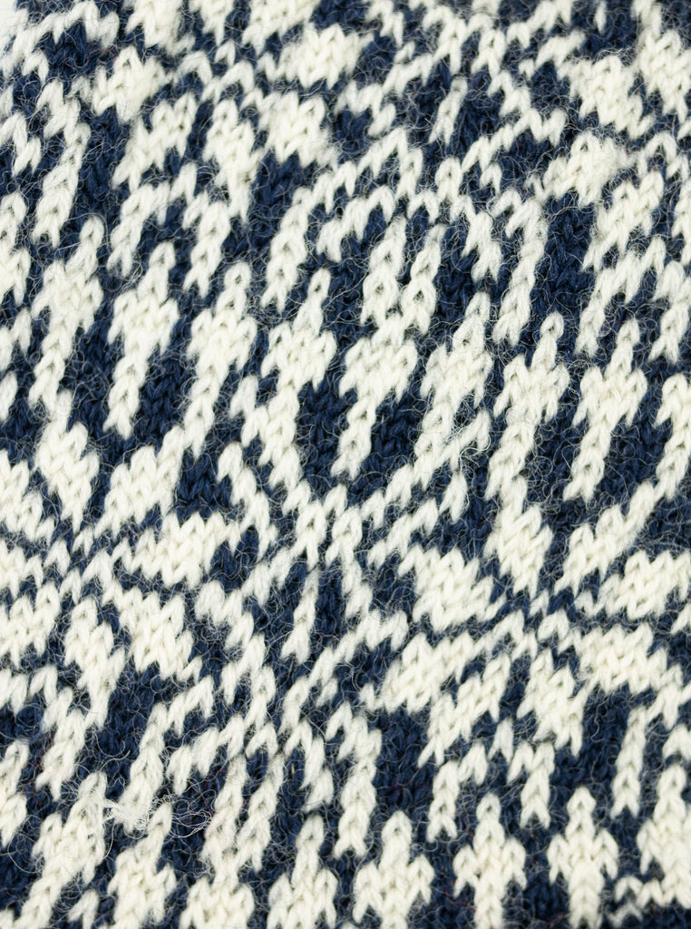 HIRSCH NATUR Nordic Sock Navy White The Northern Fells Clothing Company Detail