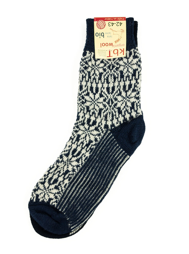 HIRSCH NATUR Nordic Sock Navy White The Northern Fells Clothing Company Full