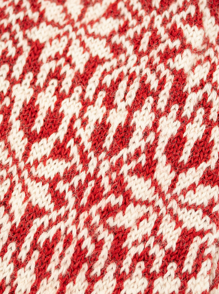 HIRSCH NATUR Nordic Sock Red White The Northern Fells Clothing Company Detail