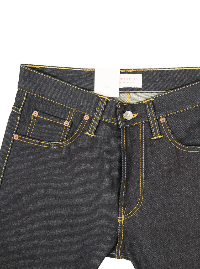 Hawksmill Denim Co - 14oz Organic Dark Wash Loose Tapered Jean - Indigo - Northern Fells