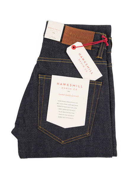Hawksmill Denim Co - 14oz Organic Dark Wash Slim Tapered Jean - Indigo - Northern Fells