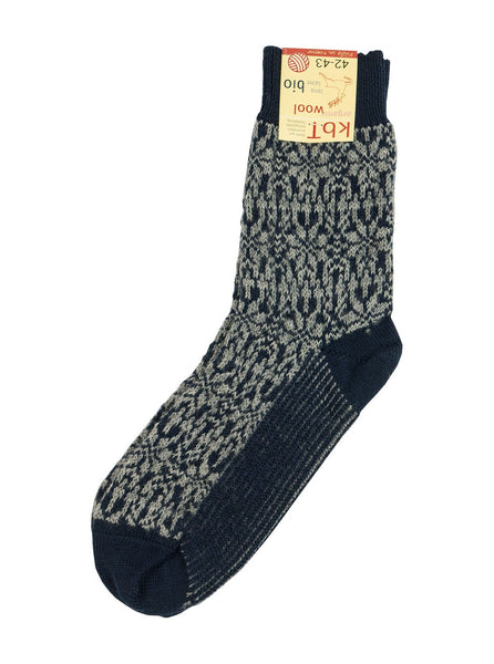 Hirsch Natur - Nordic Socks - Navy/ Grey - Northern Fells