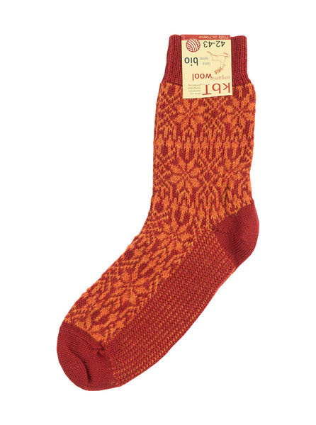 Hirsch Natur - Nordic Socks - Red/ Orange - Northern Fells