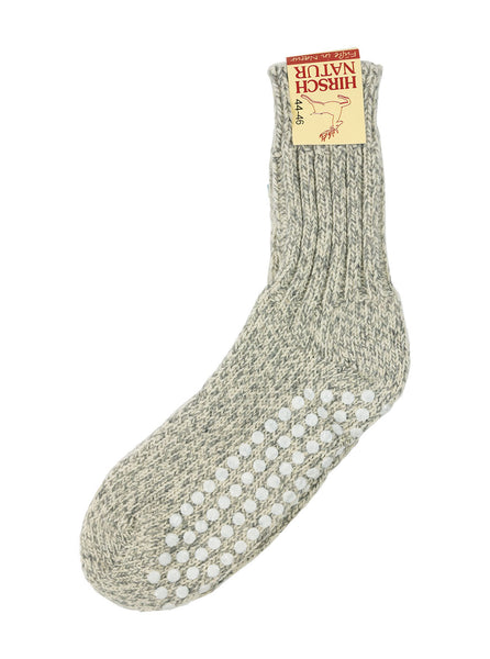 Hirsch Natur - Slipper Sock - Grey Marl - Northern Fells
