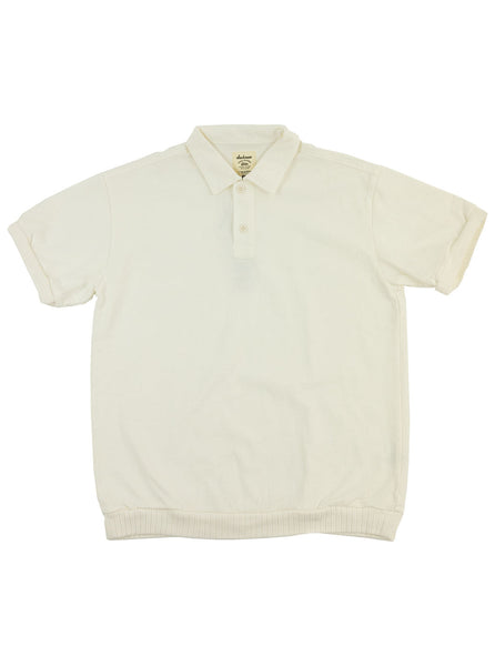 Jackman JM3061 Waffle High Density Polo White The Northern Fells Clothing Company Full