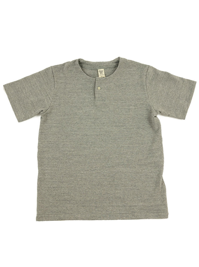 Jackman JM5059 Waffle Henley Heather Grey The Northern Fells Clothing Company Full