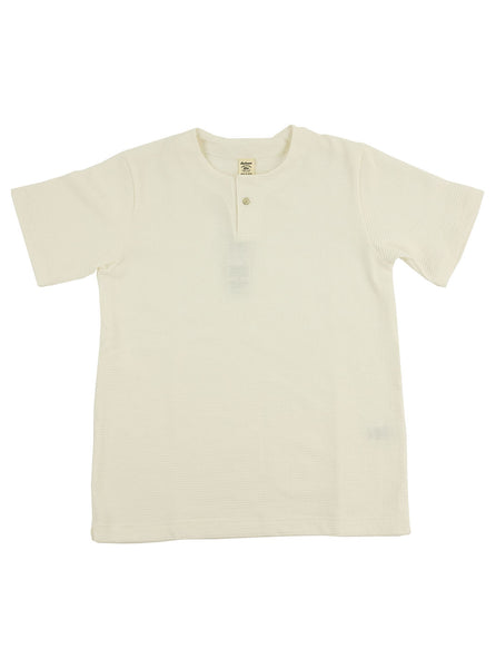 Jackman JM5059 Waffle Henley White The Northern Fells Clothing Company Full