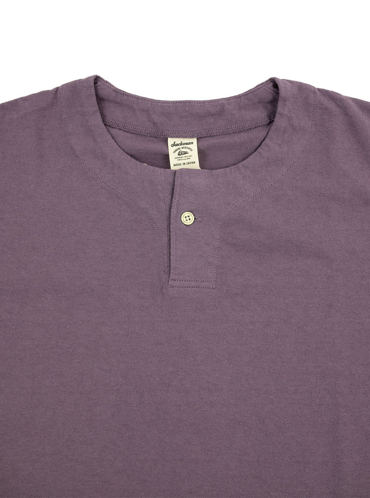 Jackman JM5713 Henley Cloud Purple The Northern Fells Clothing Company Neck