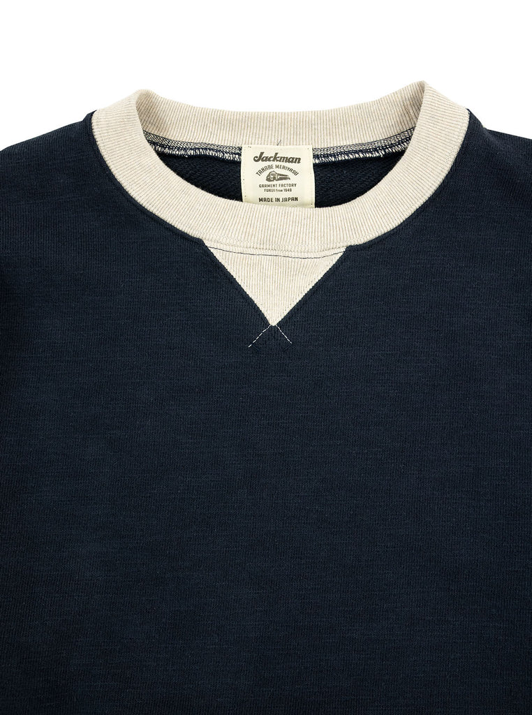 Jackman JM7872 GG Crew Neck Navy Ash The Northern Fells Clothing Company Neck