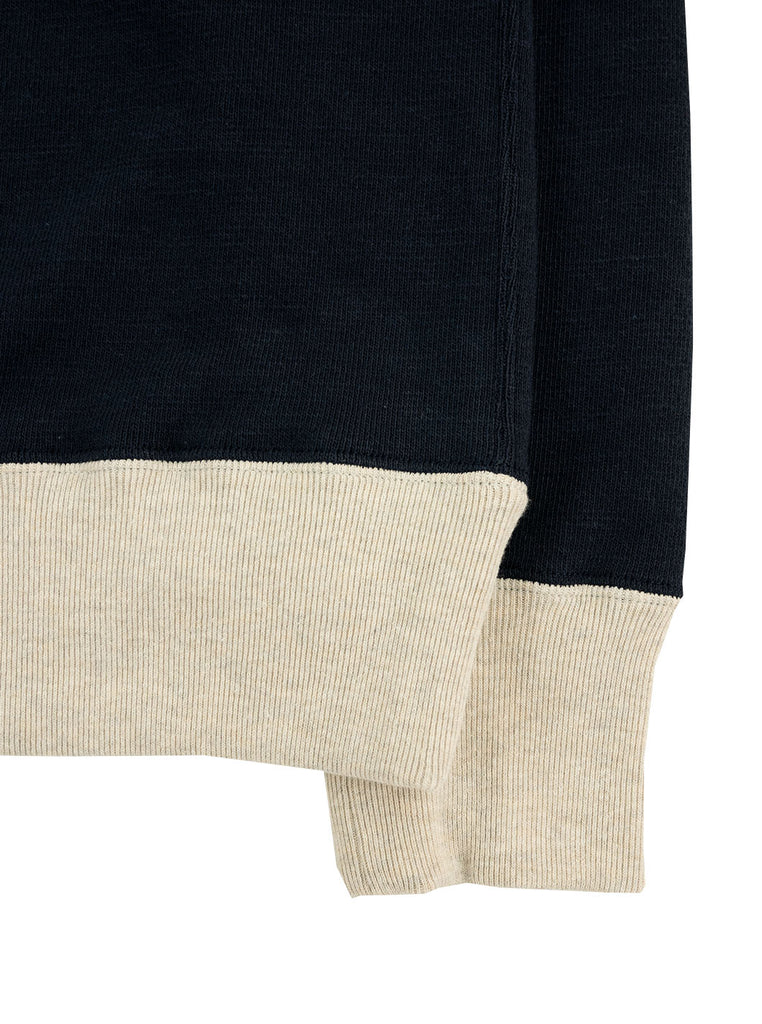 Jackman JM7872 GG Crew Neck Navy Ash The Northern Fells Clothing Company Sleeve