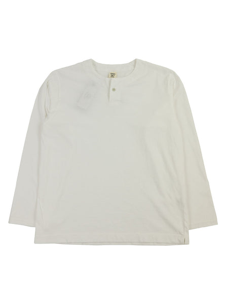 Jackman - Henley Long Sleeve T-Shirt - White - Northern Fells