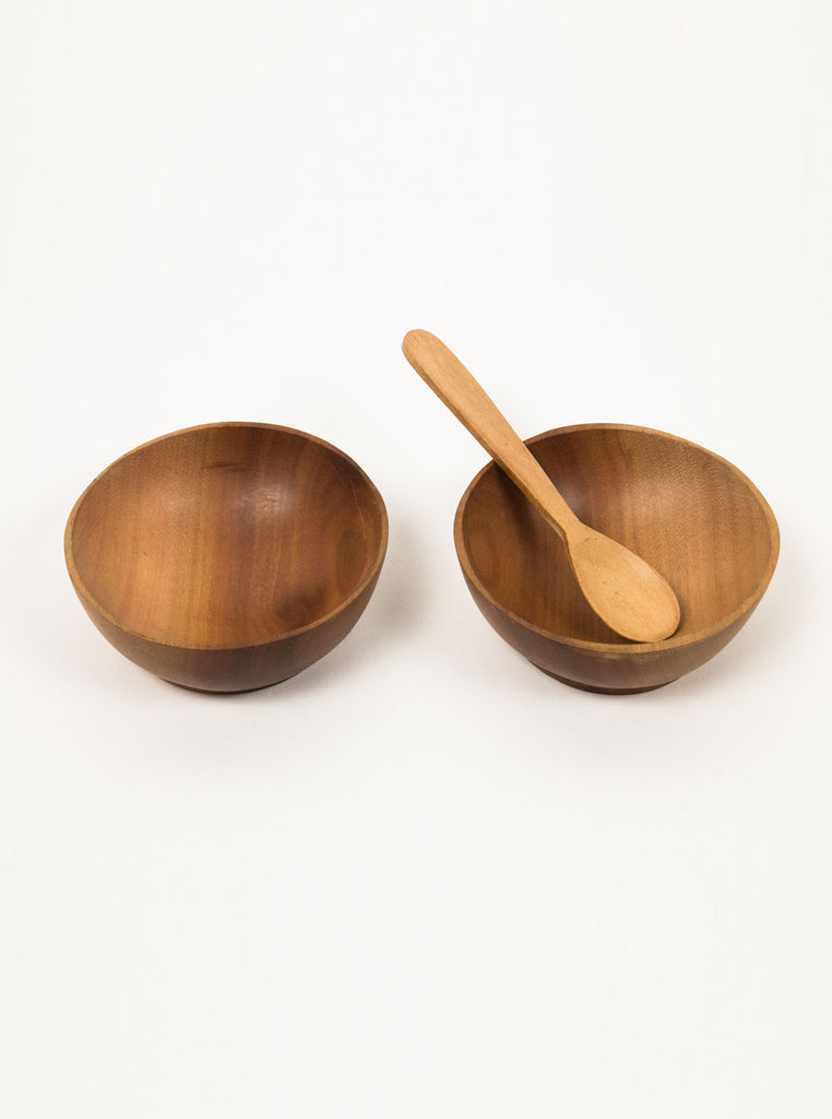 Kain & Wares - Hand Crafted Small Teak Wood Bowl Set & Spoon - Northern Fells