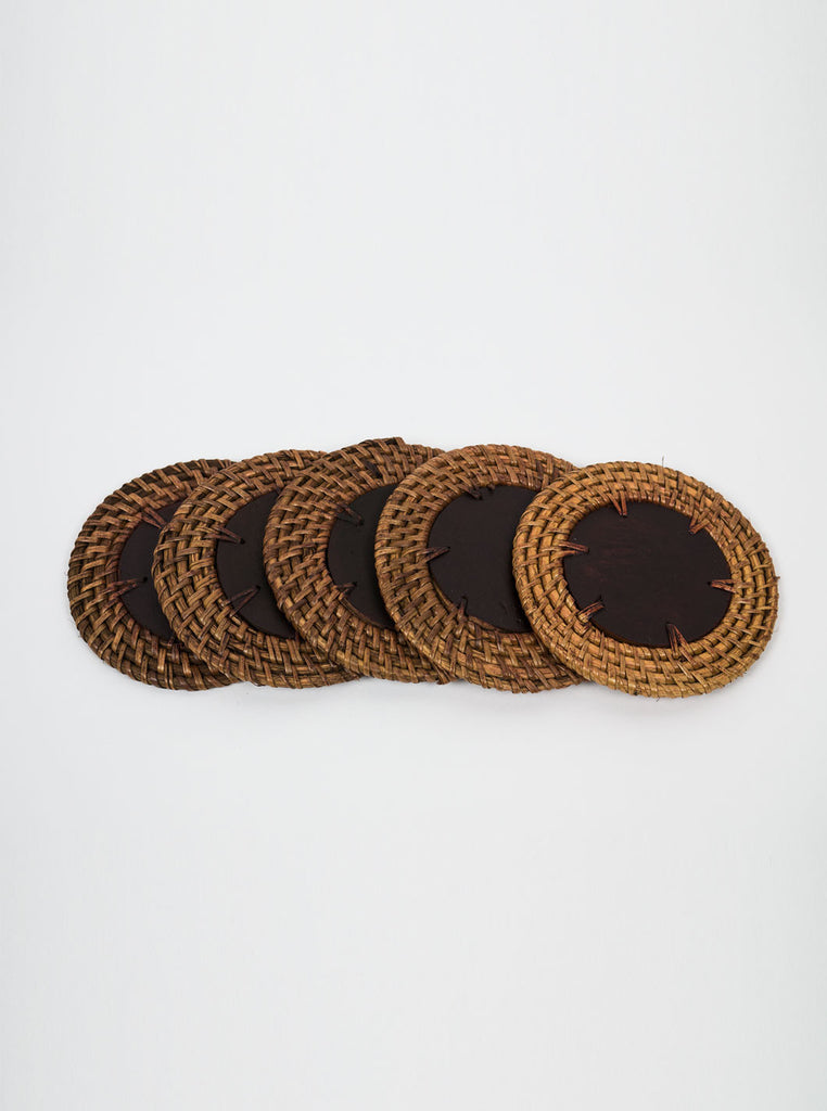 Kain & Wares - Handcrafted Wicker & Wood Coaster Set - Northern Fells