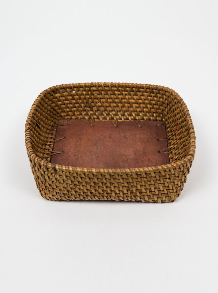 Kain & Wares - Handcrafted Wicker & Wood Square Bowl - Northern Fells