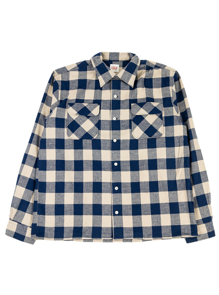 Kidur Camp High Waffle Block Navy Check The Northern Fells Clothing Company Full