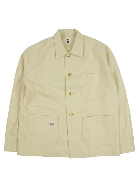 Kidur Veste41 Ecru Cotton Twill Made in France Workwear The Northern Fells Clothing Company Full