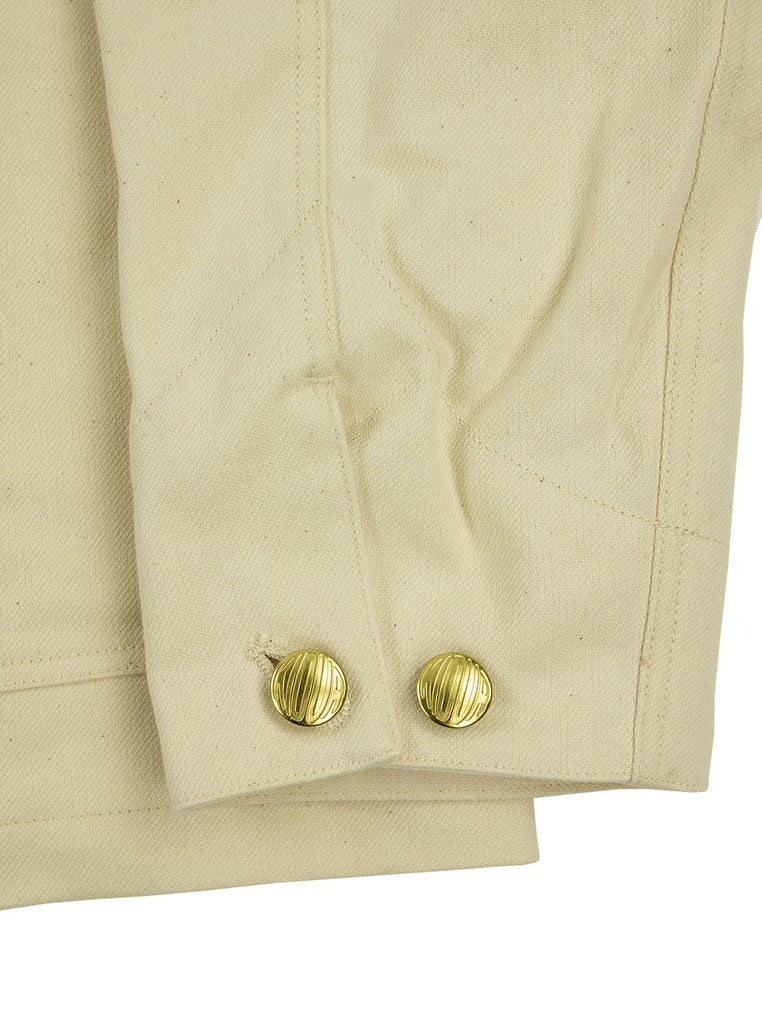 Kidur Veste41 Ecru Cotton Twill Made in France Workwear The Northern Fells Clothing Company Sleeve
