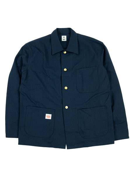 Kidur Veste41 Navy Cotton Twill Made in France Workwear The Northern Fells Clothing Company Full