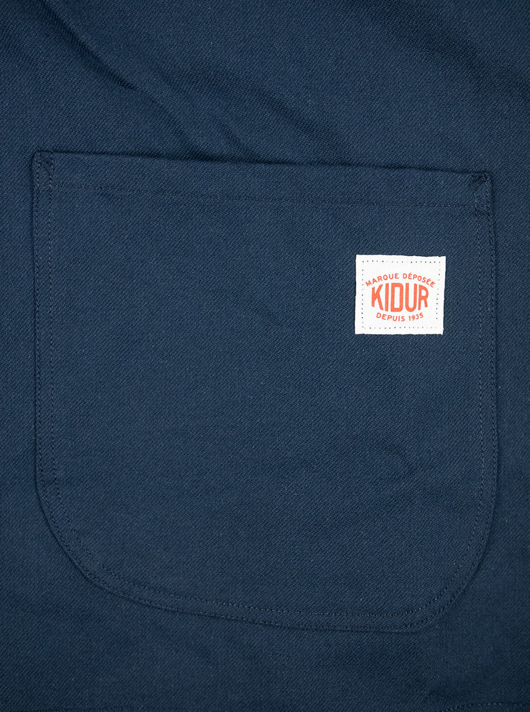 Kidur Veste41 Navy Cotton Twill Made in France Workwear The Northern Fells Clothing Company Pocket