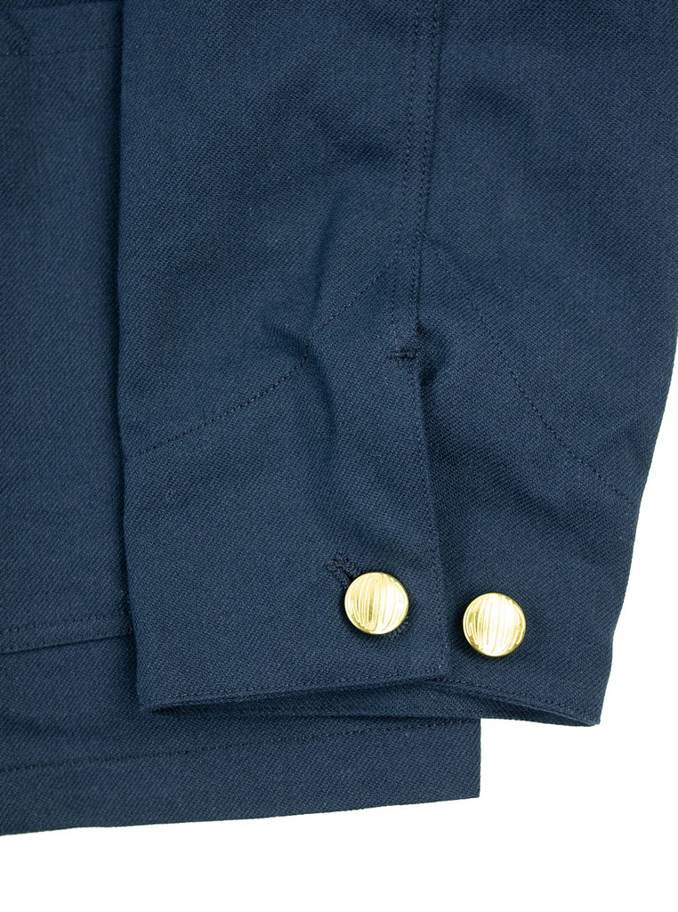 Kidur Veste41 Navy Cotton Twill Made in France Workwear The Northern Fells Clothing Company Sleeve