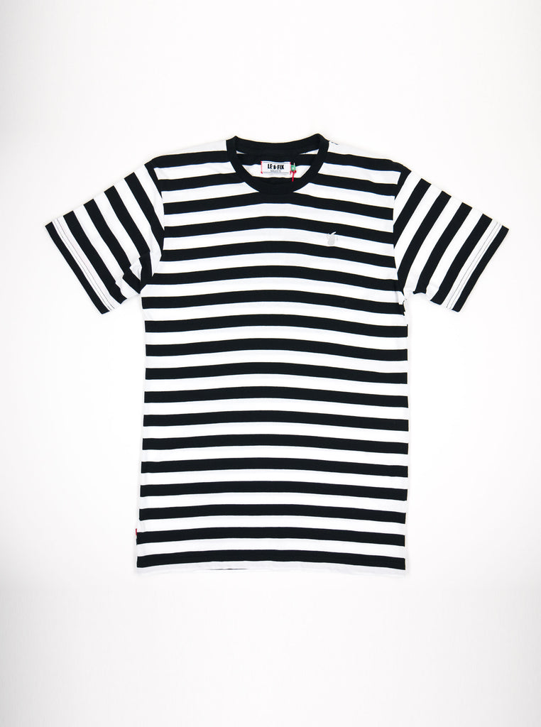 Le Fix - Stripe T-Shirt - Black & White - Northern Fells