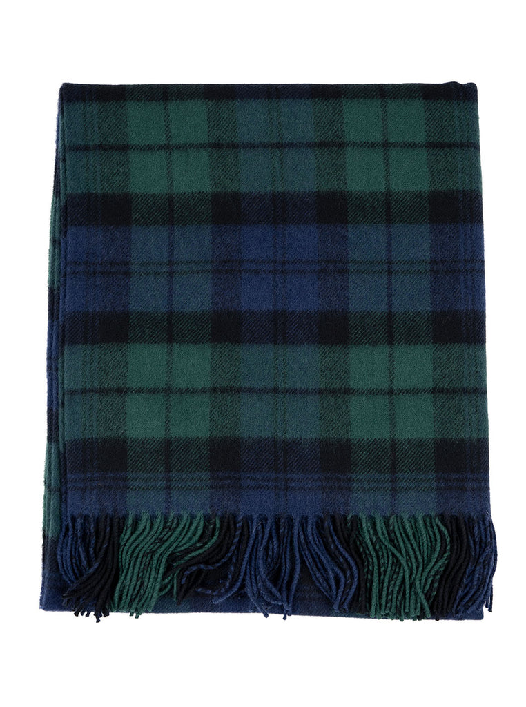Lochcarron Lambswool Tartan Blanket Made in Scotland Black Watch The Northern Fells Clothing Company Full
