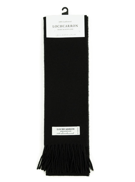Lochcarron Lambswool Tartan Scarf Made in Scotland Black The Northern Fells Clothing Company Full