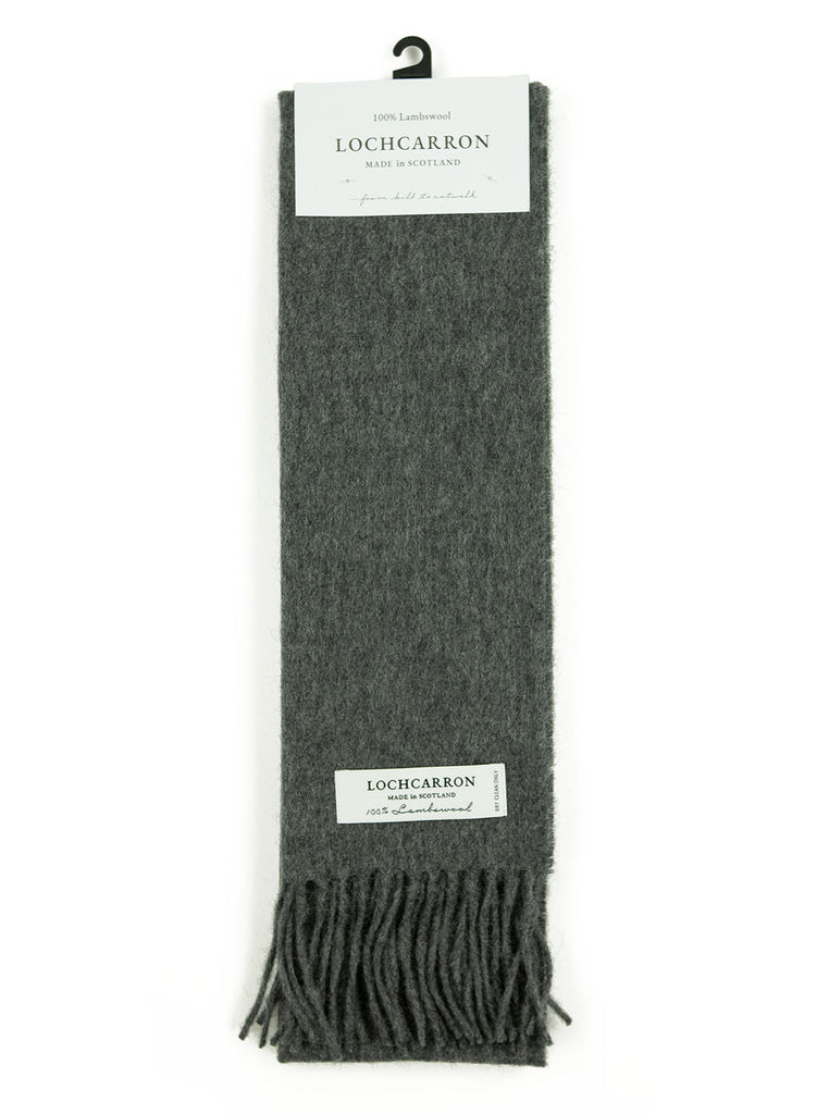 Lochcarron Lambswool Tartan Scarf Made in Scotland Gray The Northern Fells Clothing Company Full