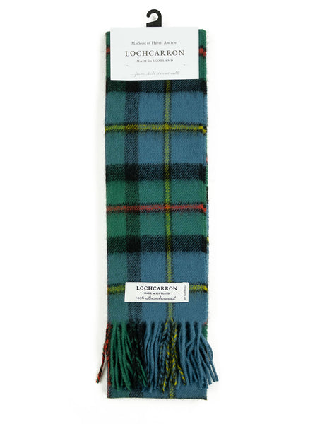 Lochcarron Lambswool Tartan Scarf Made in Scotland MacLeod Harris Ancient The Northern Fells Clothing Company Full