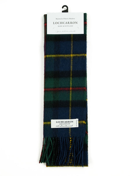 Lochcarron Lambswool Tartan Scarf Made in Scotland MacLeod Harris Modern The Northern Fells Clothing Company Full