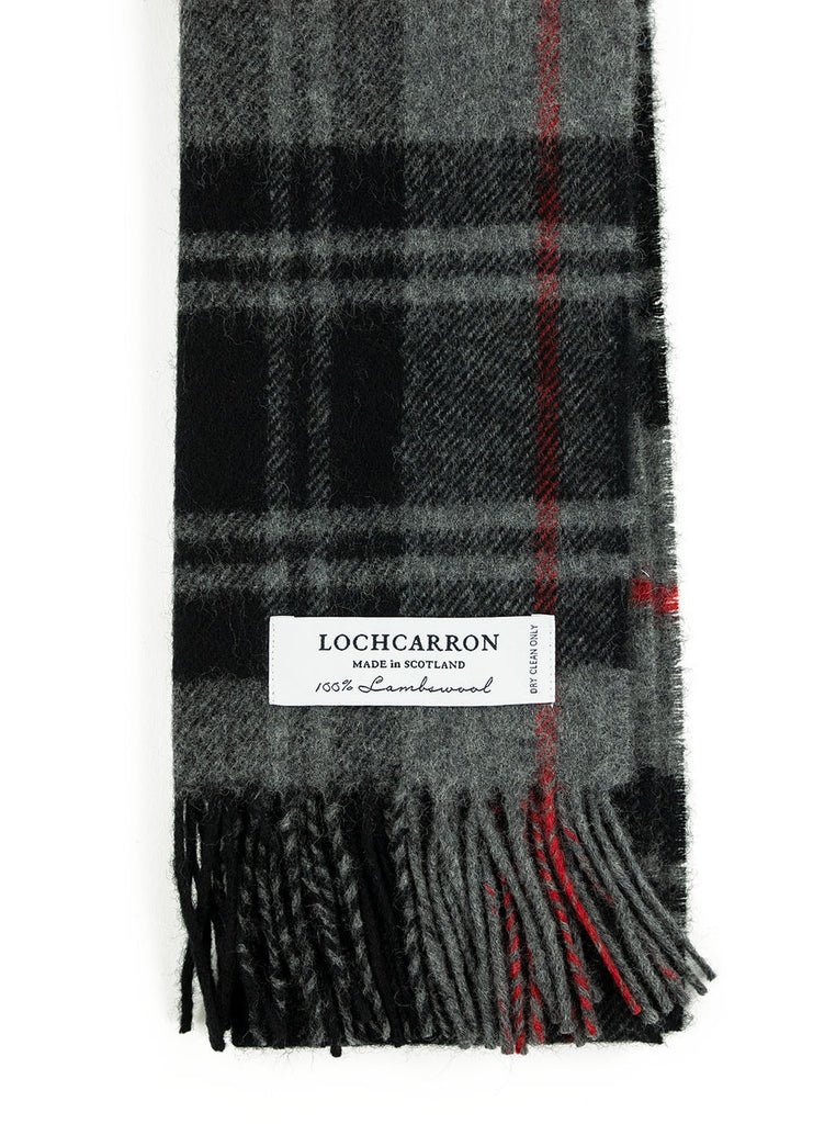 Lochcarron Lambswool Tartan Scarf Made in Scotland Moffat The Northern Fells Clothing Company Detail