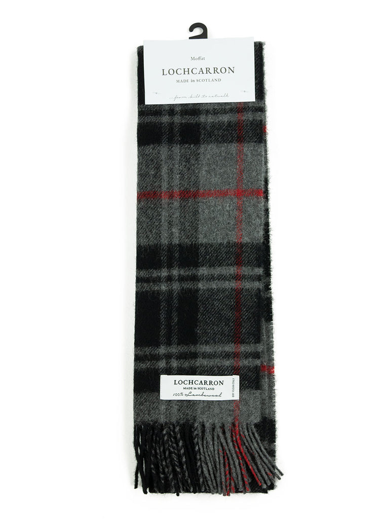 Lochcarron Lambswool Tartan Scarf Made in Scotland Moffat The Northern Fells Clothing Company Full
