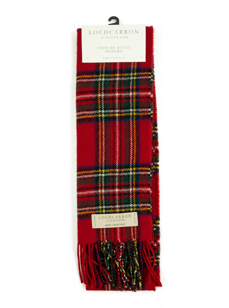 Lochcarron Lambswool Tartan Scarf Made in Scotland Stewart Royal Modern The Northern Fells Clothing Company Full