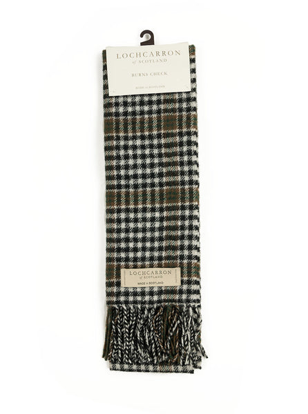 Lochcarron of Scotland - Burns Check Lambswool Scarf - Multi - Northern Fells
