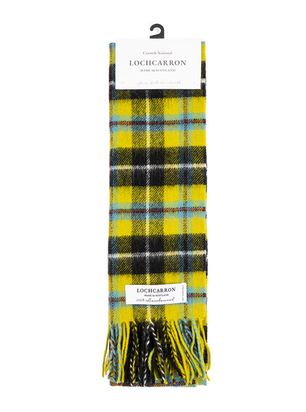 Lochcarron Scarf Made in Scotland Cornish National Tartan The Northern Fells Clothing Company Full