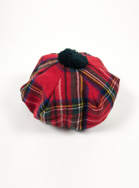 Lochcarron of Scotland - Stewart Royal Modern Tartan Lambswool Tam Hat Main - Multi - The Northern Fells Clothing Company
