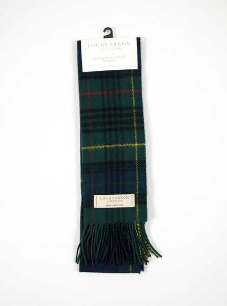 Lochcarron of Scotland - Stewart Hunting Tartan Lambswool Scarf - Multi - Northern Fells