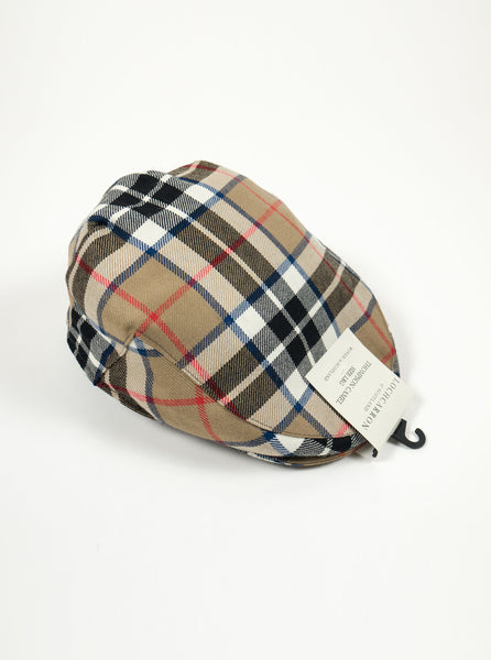Lochcarron of Scotland - Thomson Camel Modern Tartan Lambswool Cap - Multi FULL The Northern Fells Clothing Company