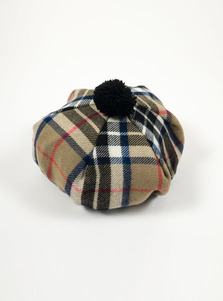 Lochcarron of Scotland - Thomson Camel Modern Tartan Lambswool Tam Hat - Multi - Northern Fells
