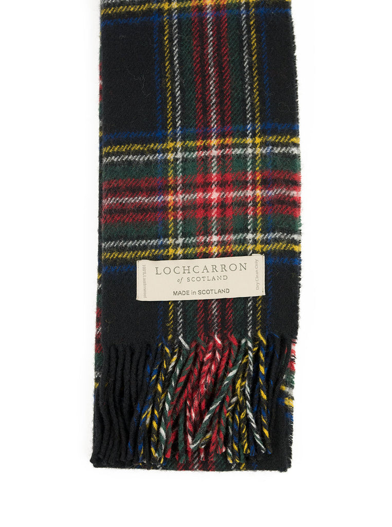 Lochcarron of Scotland - Stewart Tartan Lambswool Scarf - Multi - Northern Fells